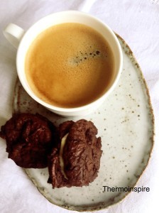 Cocolate and tahini cookies